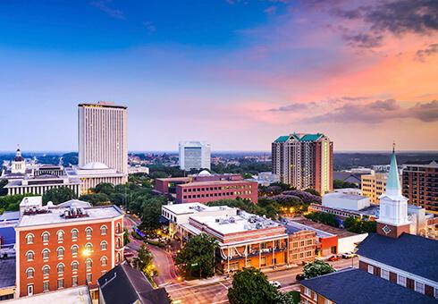 Tallahassee, Florida, USA downtown skyline.