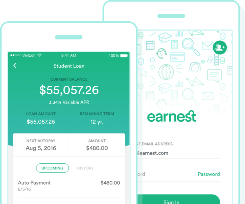 earnest student loans mobile app